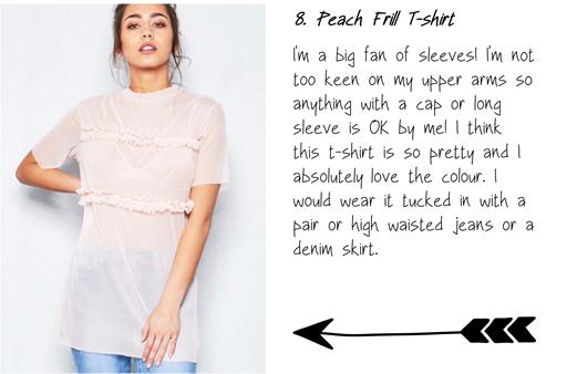 Peach frill t-shirt